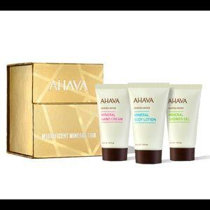 NIB AHAVA Mineral Trio Kit Lotion, Hand Cream, Gel